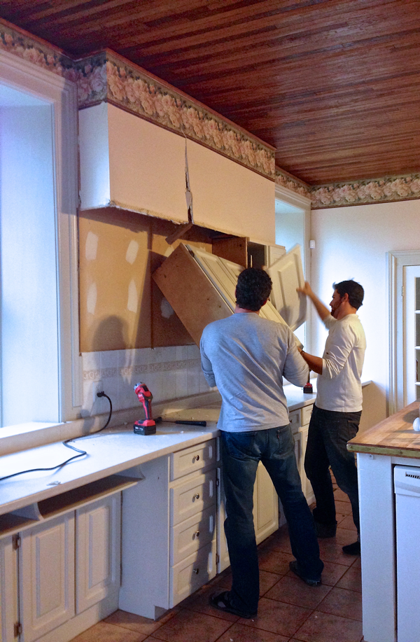 Taking out cabinets at BannockBurn… cynthiaweber.com