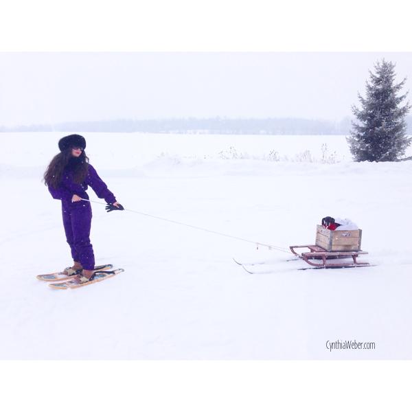 Snowshoeing with Emmitt…CynthiaWeber.com