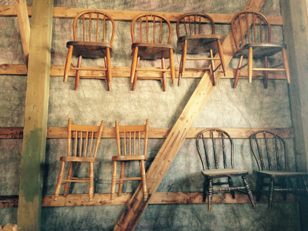 Little Chairs hung on the walls of the barn at Bannockburn 1878… Cynthiaweber.com