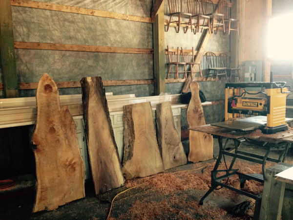 Live Edge pieces waiting to be finished… Cynthiaweber.com