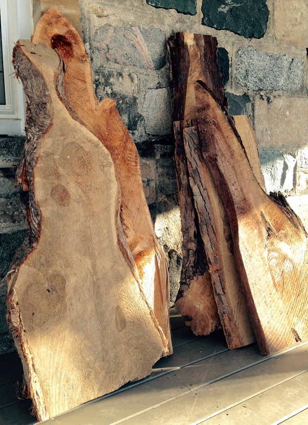 Live edge ready to be made into serving boards… cynthiaweber.com