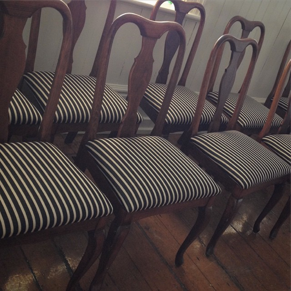 Redone dining chairs… cynthiaweber.com