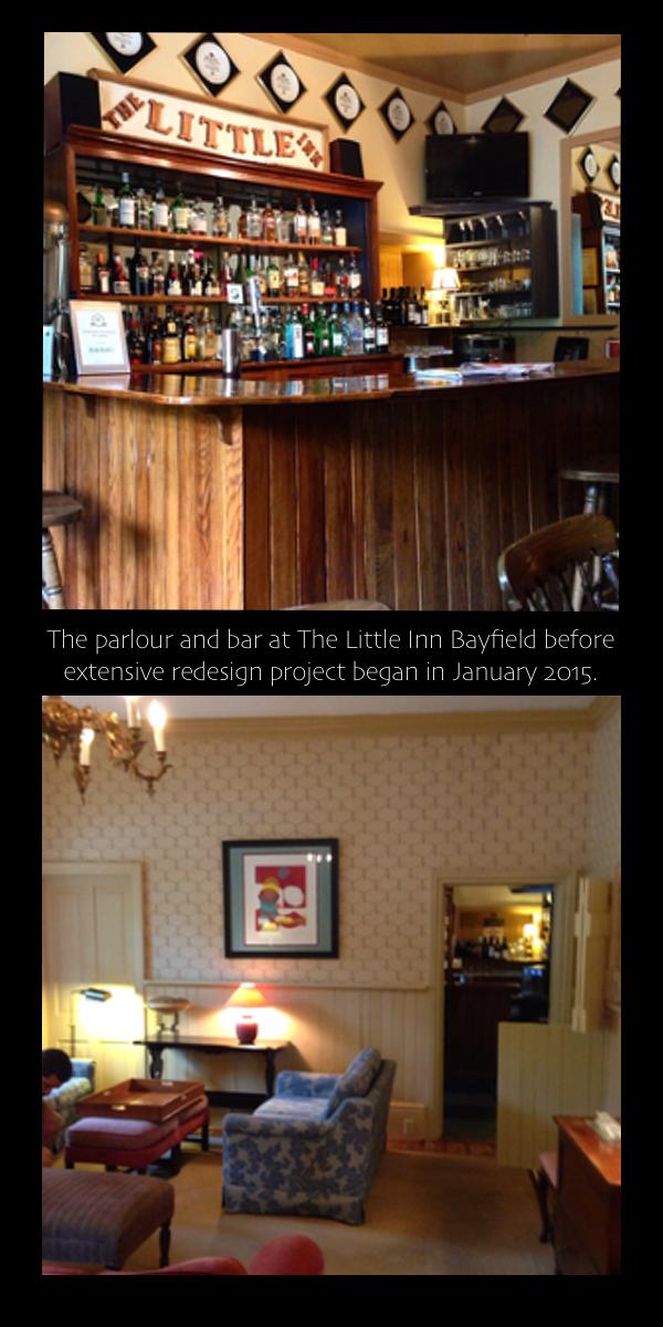 Before photos of The Little Inn Bayfield… cynthiaWeber.com
