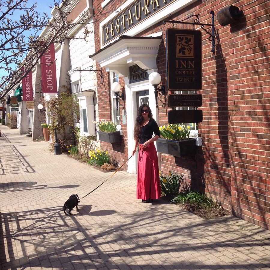 Emmitt and I in Beautiful Jordan Ontario … CynthiaWeber.com