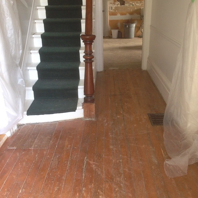 uncovered floorboards at BannockBurn 1878… CynthiaWeber.com