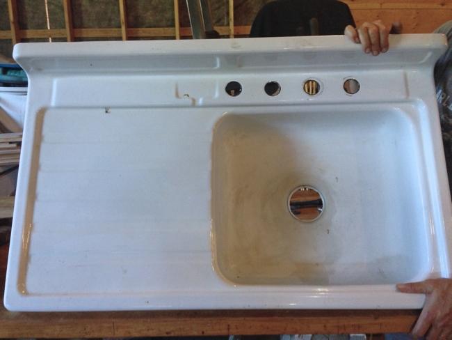 vintage sink before reglazing… cynthiaweber.com