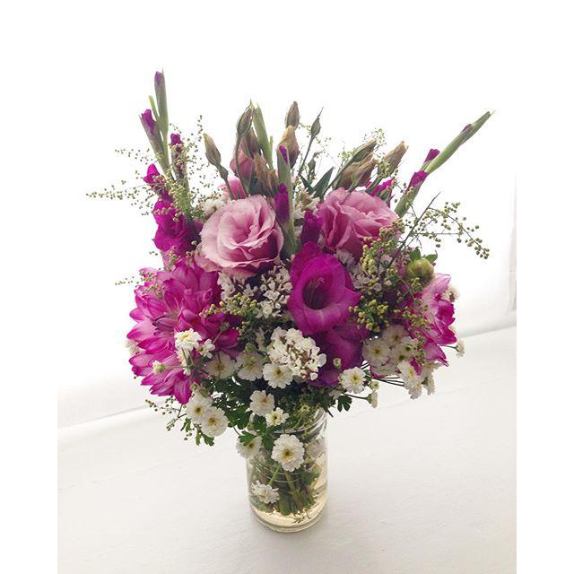 Flowers in mason jar… cynthiaweber.com