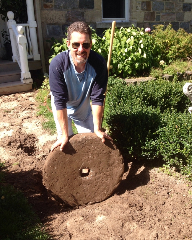 Kent finding the Gristmill stone buried at BannockBurn 1878… cynthiaweber.com