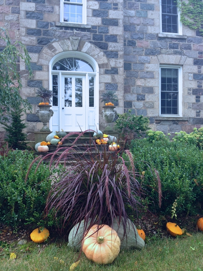 The front door styled for Fall at BannockBurn 1878… cynthiaweber.com