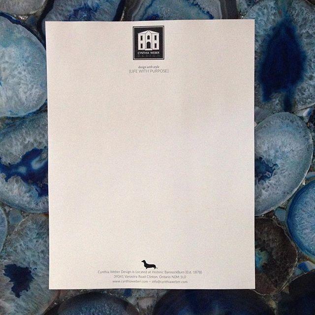 New letterhead for Cynthia Weber Design