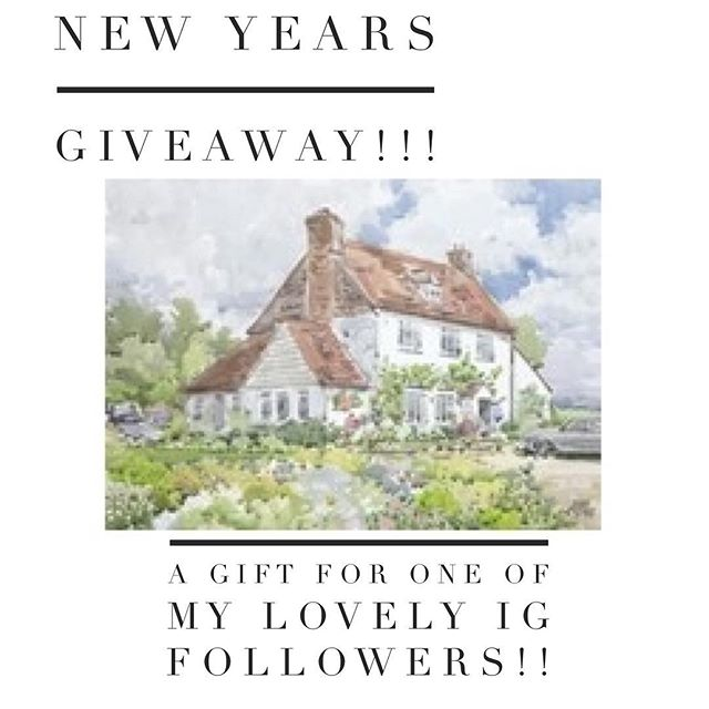 Win an Original Painting! Pop over to Instagram to enter my New Years Givaway!!!