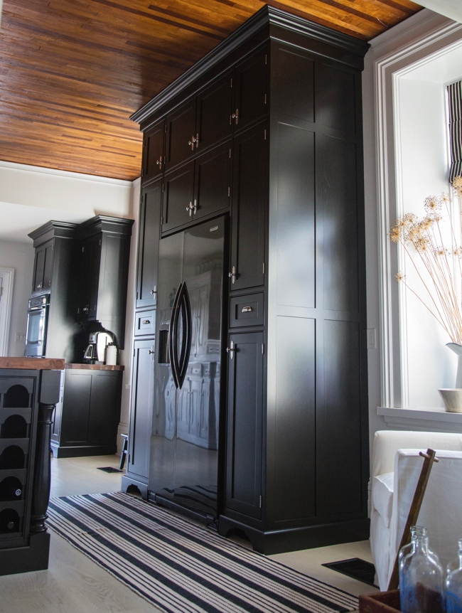 Floor to ceiling custom cabinets for the kitchen at BannockBur 1878... Cynthia Weber Design