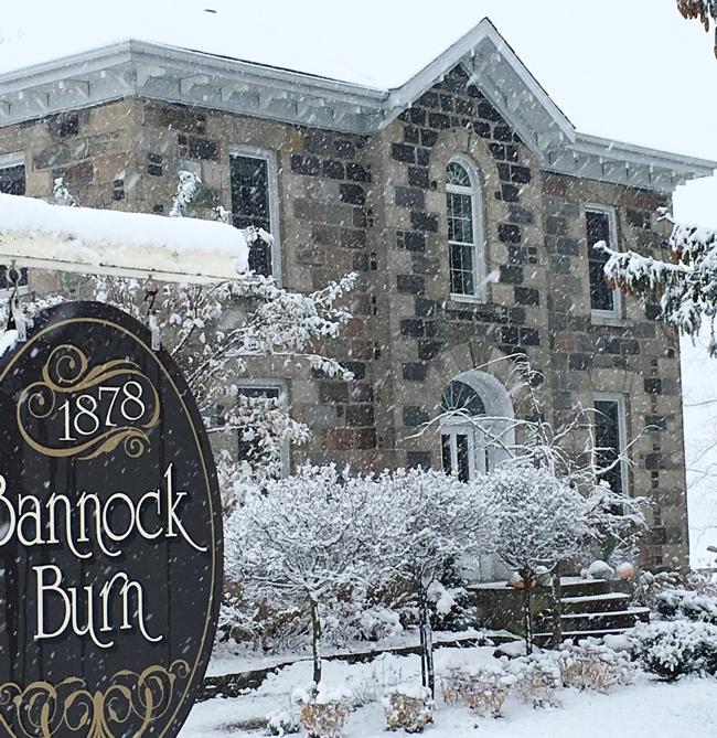 Snow storm at BannocBurn 1878...