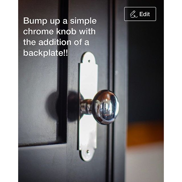 Add a backplate to upgrade a simple chrome knob... Cynthia Weber Design