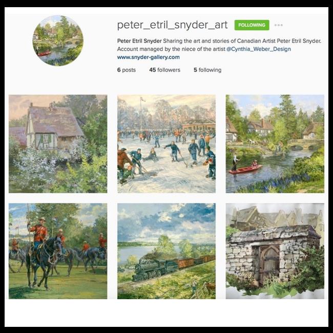 IG account for artist Peter Etril Snyder