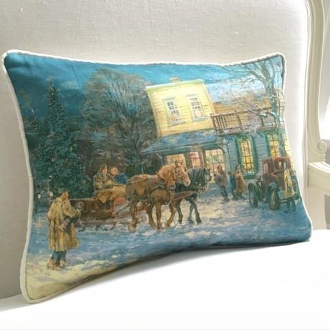 Cynthia Weber Design Pillow Christmas Shoppers