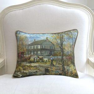 Autumn at the Schneider House Pillow