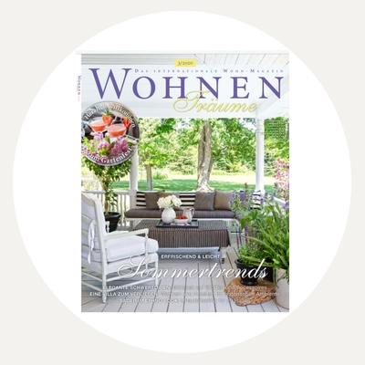 Cynthia Weber Design cover of Wohnen Traume Magazine